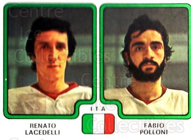 1979 Panini Stickers #389 Renato Lacedelli, Fabio Polloni<br/>6 In Stock - $2.00 each - <a href=https://centericecollectibles.foxycart.com/cart?name=1979%20Panini%20Stickers%20%23389%20Renato%20Lacedell...&quantity_max=6&price=$2.00&code=232295 class=foxycart> Buy it now! </a>