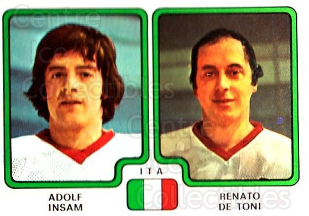 1979 Panini Stickers #390 Adolf Insam, Renato De Toni<br/>4 In Stock - $2.00 each - <a href=https://centericecollectibles.foxycart.com/cart?name=1979%20Panini%20Stickers%20%23390%20Adolf%20Insam,%20Re...&quantity_max=4&price=$2.00&code=232296 class=foxycart> Buy it now! </a>