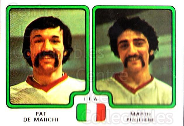 1979 Panini Stickers #392 Pat De Marchi, Mario Pugliese<br/>5 In Stock - $2.00 each - <a href=https://centericecollectibles.foxycart.com/cart?name=1979%20Panini%20Stickers%20%23392%20Pat%20De%20Marchi,%20...&quantity_max=5&price=$2.00&code=232298 class=foxycart> Buy it now! </a>