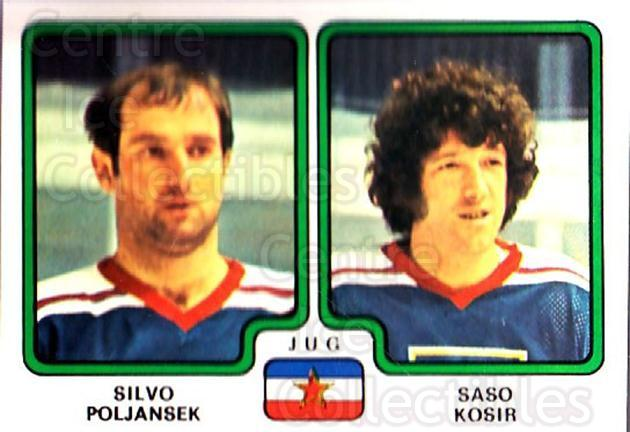 1979 Panini Stickers #399 Silvo Poljansek, Saso Kosir<br/>9 In Stock - $2.00 each - <a href=https://centericecollectibles.foxycart.com/cart?name=1979%20Panini%20Stickers%20%23399%20Silvo%20Poljansek...&quantity_max=9&price=$2.00&code=232305 class=foxycart> Buy it now! </a>