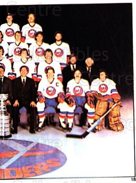 1981-82 O-Pee-Chee Stickers #18 New York Islanders, Team Photo<br/>2 In Stock - $2.00 each - <a href=https://centericecollectibles.foxycart.com/cart?name=1981-82%20O-Pee-Chee%20Stickers%20%2318%20New%20York%20Island...&quantity_max=2&price=$2.00&code=232324 class=foxycart> Buy it now! </a>