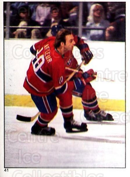 1981-82 O-Pee-Chee Stickers #41 Guy Lafleur<br/>1 In Stock - $3.00 each - <a href=https://centericecollectibles.foxycart.com/cart?name=1981-82%20O-Pee-Chee%20Stickers%20%2341%20Guy%20Lafleur...&quantity_max=1&price=$3.00&code=232347 class=foxycart> Buy it now! </a>