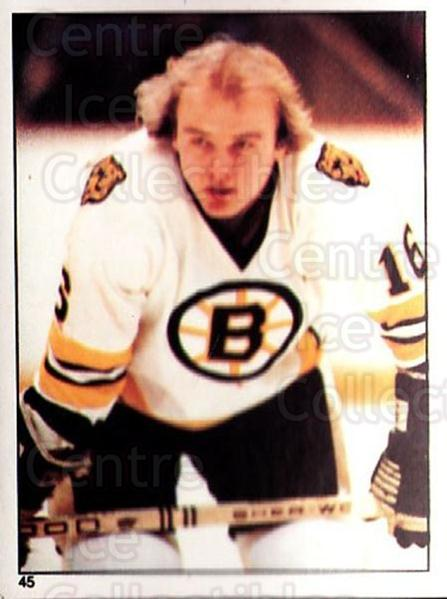 1981-82 O-Pee-Chee Stickers #45 Rick Middleton<br/>2 In Stock - $2.00 each - <a href=https://centericecollectibles.foxycart.com/cart?name=1981-82%20O-Pee-Chee%20Stickers%20%2345%20Rick%20Middleton...&quantity_max=2&price=$2.00&code=232351 class=foxycart> Buy it now! </a>