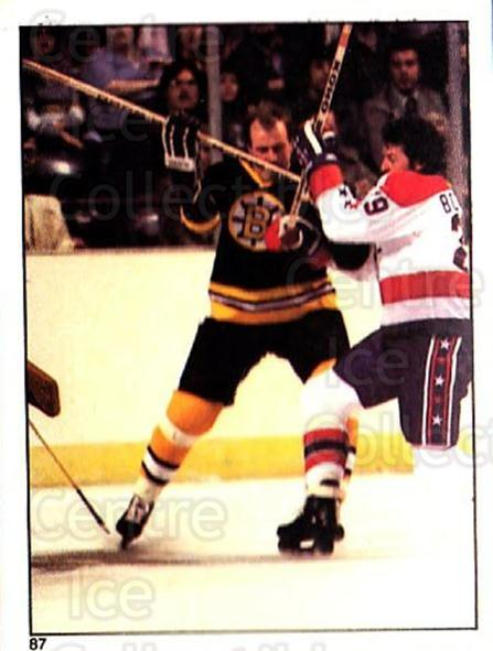 1981-82 O-Pee-Chee Stickers #87 Boston Bruins, Washington Capitals<br/>4 In Stock - $2.00 each - <a href=https://centericecollectibles.foxycart.com/cart?name=1981-82%20O-Pee-Chee%20Stickers%20%2387%20Boston%20Bruins,%20...&quantity_max=4&price=$2.00&code=232393 class=foxycart> Buy it now! </a>