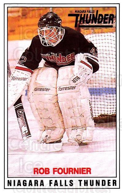 1988-89 Niagara Falls Thunder #10 Rob Fournier<br/>1 In Stock - $3.00 each - <a href=https://centericecollectibles.foxycart.com/cart?name=1988-89%20Niagara%20Falls%20Thunder%20%2310%20Rob%20Fournier...&quantity_max=1&price=$3.00&code=23242 class=foxycart> Buy it now! </a>