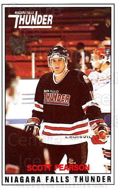 1988-89 Niagara Falls Thunder #11 Scott Pearson<br/>5 In Stock - $3.00 each - <a href=https://centericecollectibles.foxycart.com/cart?name=1988-89%20Niagara%20Falls%20Thunder%20%2311%20Scott%20Pearson...&quantity_max=5&price=$3.00&code=23243 class=foxycart> Buy it now! </a>