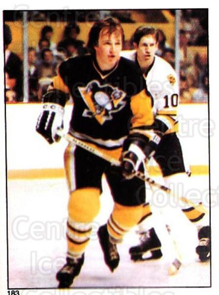 1981-82 O-Pee-Chee Stickers #183 Randy Carlyle<br/>4 In Stock - $2.00 each - <a href=https://centericecollectibles.foxycart.com/cart?name=1981-82%20O-Pee-Chee%20Stickers%20%23183%20Randy%20Carlyle...&quantity_max=4&price=$2.00&code=232489 class=foxycart> Buy it now! </a>