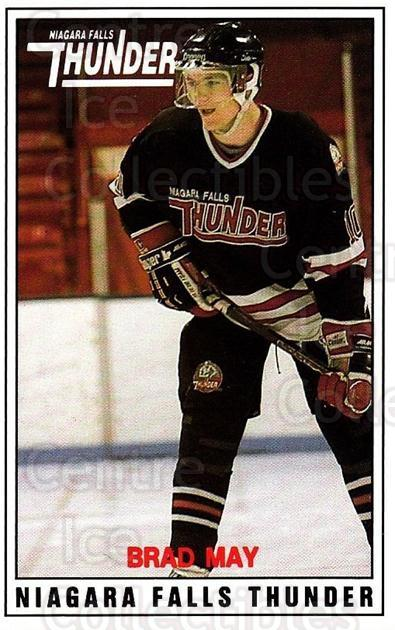 1988-89 Niagara Falls Thunder #2 Brad May<br/>1 In Stock - $5.00 each - <a href=https://centericecollectibles.foxycart.com/cart?name=1988-89%20Niagara%20Falls%20Thunder%20%232%20Brad%20May...&quantity_max=1&price=$5.00&code=23250 class=foxycart> Buy it now! </a>