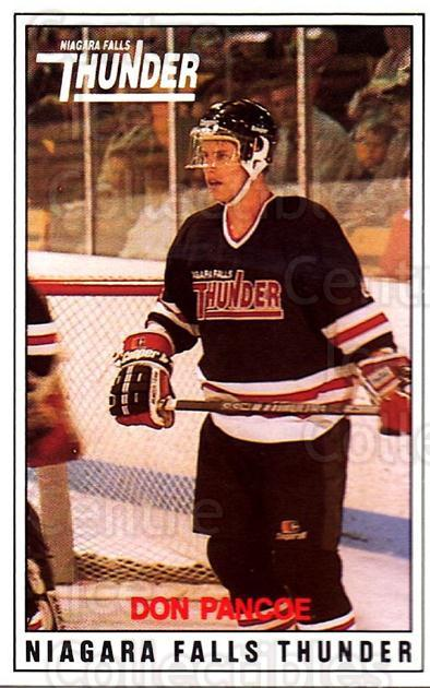 1988-89 Niagara Falls Thunder #20 Don Pancoe<br/>6 In Stock - $3.00 each - <a href=https://centericecollectibles.foxycart.com/cart?name=1988-89%20Niagara%20Falls%20Thunder%20%2320%20Don%20Pancoe...&quantity_max=6&price=$3.00&code=23251 class=foxycart> Buy it now! </a>