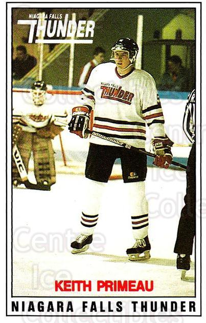 1988-89 Niagara Falls Thunder #4 Keith Primeau<br/>1 In Stock - $10.00 each - <a href=https://centericecollectibles.foxycart.com/cart?name=1988-89%20Niagara%20Falls%20Thunder%20%234%20Keith%20Primeau...&quantity_max=1&price=$10.00&code=23258 class=foxycart> Buy it now! </a>