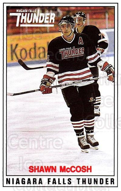 1988-89 Niagara Falls Thunder #8 Shawn McCosh<br/>3 In Stock - $3.00 each - <a href=https://centericecollectibles.foxycart.com/cart?name=1988-89%20Niagara%20Falls%20Thunder%20%238%20Shawn%20McCosh...&quantity_max=3&price=$3.00&code=23260 class=foxycart> Buy it now! </a>