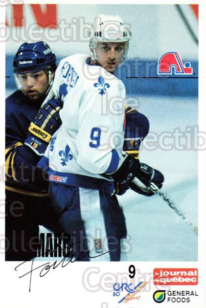 1988-89 Quebec Nordiques General Foods #10 Marc Fortier<br/>4 In Stock - $3.00 each - <a href=https://centericecollectibles.foxycart.com/cart?name=1988-89%20Quebec%20Nordiques%20General%20Foods%20%2310%20Marc%20Fortier...&quantity_max=4&price=$3.00&code=23264 class=foxycart> Buy it now! </a>