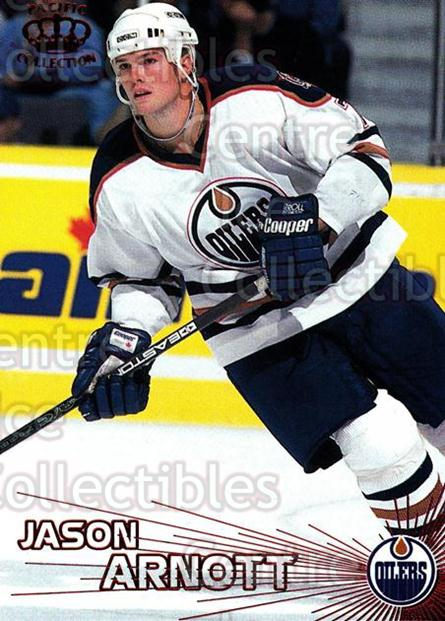 1997-98 Pacific Red #79 Jason Arnott<br/>2 In Stock - $3.00 each - <a href=https://centericecollectibles.foxycart.com/cart?name=1997-98%20Pacific%20Red%20%2379%20Jason%20Arnott...&quantity_max=2&price=$3.00&code=232654 class=foxycart> Buy it now! </a>