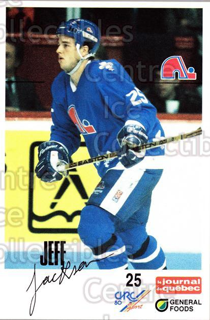 1988-89 Quebec Nordiques General Foods #17 Jeff Jackson<br/>5 In Stock - $3.00 each - <a href=https://centericecollectibles.foxycart.com/cart?name=1988-89%20Quebec%20Nordiques%20General%20Foods%20%2317%20Jeff%20Jackson...&quantity_max=5&price=$3.00&code=23270 class=foxycart> Buy it now! </a>