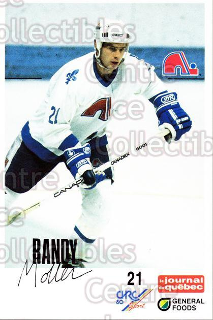 1988-89 Quebec Nordiques General Foods #26 Randy Moller<br/>5 In Stock - $3.00 each - <a href=https://centericecollectibles.foxycart.com/cart?name=1988-89%20Quebec%20Nordiques%20General%20Foods%20%2326%20Randy%20Moller...&quantity_max=5&price=$3.00&code=23276 class=foxycart> Buy it now! </a>