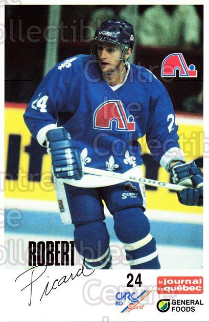 1988-89 Quebec Nordiques General Foods #27 Robert Picard<br/>4 In Stock - $3.00 each - <a href=https://centericecollectibles.foxycart.com/cart?name=1988-89%20Quebec%20Nordiques%20General%20Foods%20%2327%20Robert%20Picard...&quantity_max=4&price=$3.00&code=23277 class=foxycart> Buy it now! </a>