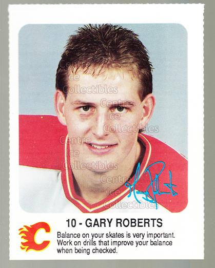 1987-88 Calgary Flames Red Rooster #27 Gary Roberts<br/>8 In Stock - $3.00 each - <a href=https://centericecollectibles.foxycart.com/cart?name=1987-88%20Calgary%20Flames%20Red%20Rooster%20%2327%20Gary%20Roberts...&quantity_max=8&price=$3.00&code=23318 class=foxycart> Buy it now! </a>