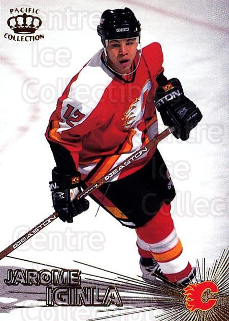 1997-98 Pacific #12 Jarome Iginla<br/>3 In Stock - $1.00 each - <a href=https://centericecollectibles.foxycart.com/cart?name=1997-98%20Pacific%20%2312%20Jarome%20Iginla...&quantity_max=3&price=$1.00&code=233289 class=foxycart> Buy it now! </a>