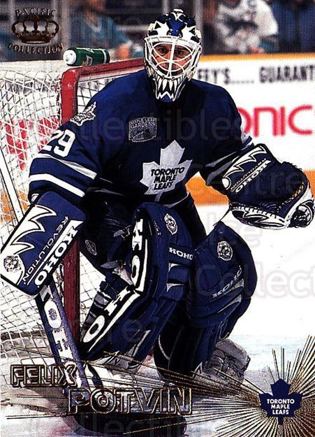 1997-98 Pacific #29 Felix Potvin<br/>4 In Stock - $1.00 each - <a href=https://centericecollectibles.foxycart.com/cart?name=1997-98%20Pacific%20%2329%20Felix%20Potvin...&quantity_max=4&price=$1.00&code=233306 class=foxycart> Buy it now! </a>