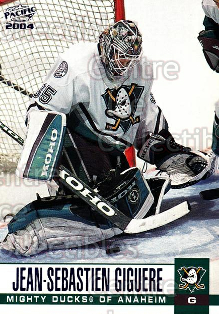 2003-04 Pacific Blue #3 Jean-Sebastien Giguere<br/>4 In Stock - $3.00 each - <a href=https://centericecollectibles.foxycart.com/cart?name=2003-04%20Pacific%20Blue%20%233%20Jean-Sebastien%20...&quantity_max=4&price=$3.00&code=233631 class=foxycart> Buy it now! </a>