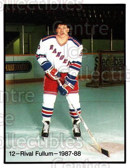 1987-88 Kitchener Rangers #12 Rival Fullum<br/>11 In Stock - $3.00 each - <a href=https://centericecollectibles.foxycart.com/cart?name=1987-88%20Kitchener%20Rangers%20%2312%20Rival%20Fullum...&quantity_max=11&price=$3.00&code=23368 class=foxycart> Buy it now! </a>