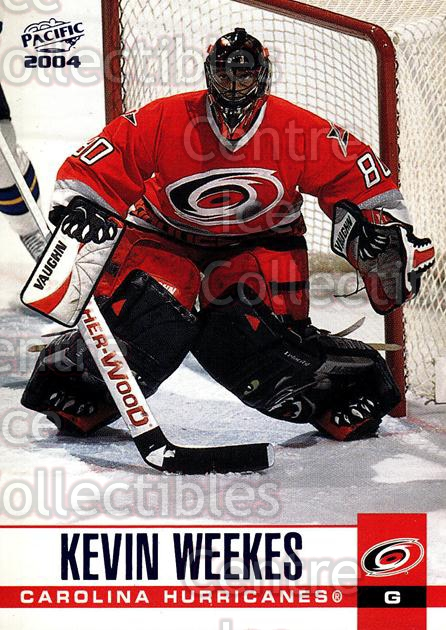 2003-04 Pacific Blue #67 Kevin Weekes<br/>5 In Stock - $3.00 each - <a href=https://centericecollectibles.foxycart.com/cart?name=2003-04%20Pacific%20Blue%20%2367%20Kevin%20Weekes...&quantity_max=5&price=$3.00&code=233695 class=foxycart> Buy it now! </a>