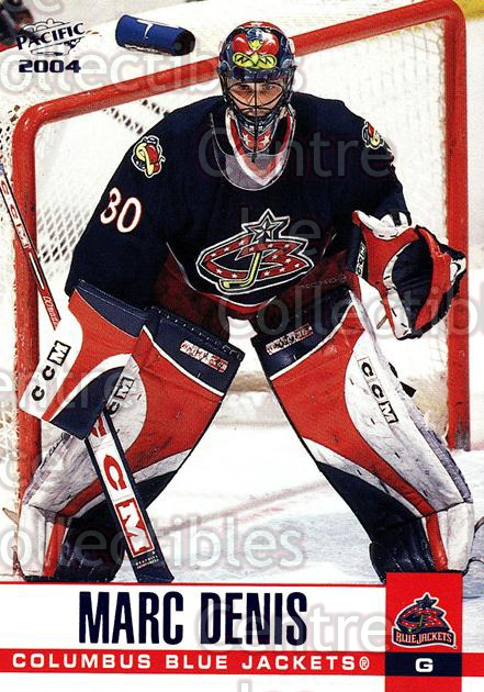 2003-04 Pacific Blue #92 Marc Denis<br/>4 In Stock - $3.00 each - <a href=https://centericecollectibles.foxycart.com/cart?name=2003-04%20Pacific%20Blue%20%2392%20Marc%20Denis...&quantity_max=4&price=$3.00&code=233720 class=foxycart> Buy it now! </a>