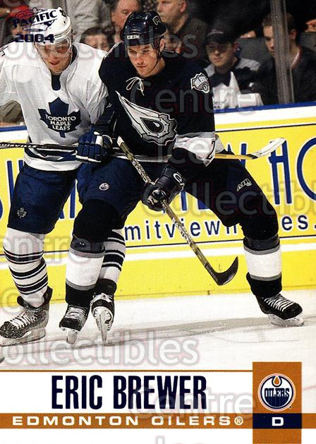 2003-04 Pacific Blue #129 Eric Brewer<br/>4 In Stock - $3.00 each - <a href=https://centericecollectibles.foxycart.com/cart?name=2003-04%20Pacific%20Blue%20%23129%20Eric%20Brewer...&quantity_max=4&price=$3.00&code=233757 class=foxycart> Buy it now! </a>