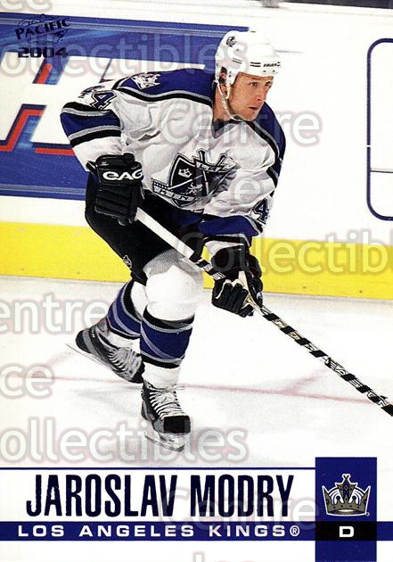 2003-04 Pacific Blue #157 Jaroslav Modry<br/>5 In Stock - $3.00 each - <a href=https://centericecollectibles.foxycart.com/cart?name=2003-04%20Pacific%20Blue%20%23157%20Jaroslav%20Modry...&quantity_max=5&price=$3.00&code=233785 class=foxycart> Buy it now! </a>