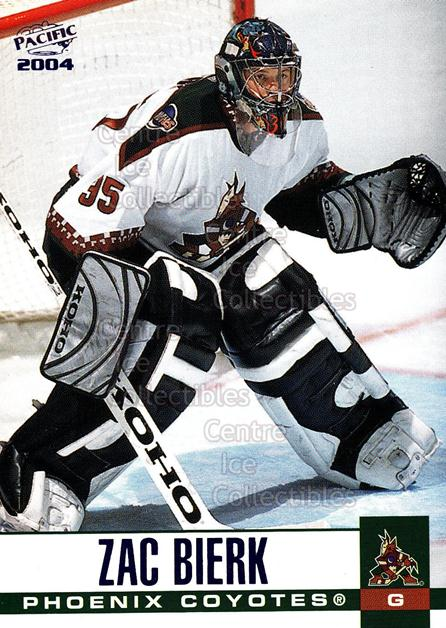 2003-04 Pacific Blue #258 Zac Bierk<br/>6 In Stock - $3.00 each - <a href=https://centericecollectibles.foxycart.com/cart?name=2003-04%20Pacific%20Blue%20%23258%20Zac%20Bierk...&quantity_max=6&price=$3.00&code=233886 class=foxycart> Buy it now! </a>
