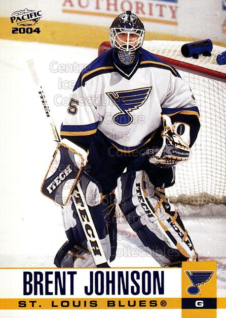 2003-04 Pacific Blue #283 Brent Johnson<br/>5 In Stock - $3.00 each - <a href=https://centericecollectibles.foxycart.com/cart?name=2003-04%20Pacific%20Blue%20%23283%20Brent%20Johnson...&quantity_max=5&price=$3.00&code=233911 class=foxycart> Buy it now! </a>