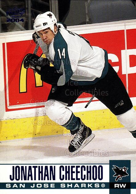 2003-04 Pacific Blue #292 Jonathan Cheechoo<br/>4 In Stock - $3.00 each - <a href=https://centericecollectibles.foxycart.com/cart?name=2003-04%20Pacific%20Blue%20%23292%20Jonathan%20Cheech...&quantity_max=4&price=$3.00&code=233920 class=foxycart> Buy it now! </a>