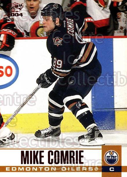 2003-04 Pacific Red #131 Mike Comrie<br/>6 In Stock - $2.00 each - <a href=https://centericecollectibles.foxycart.com/cart?name=2003-04%20Pacific%20Red%20%23131%20Mike%20Comrie...&quantity_max=6&price=$2.00&code=234109 class=foxycart> Buy it now! </a>