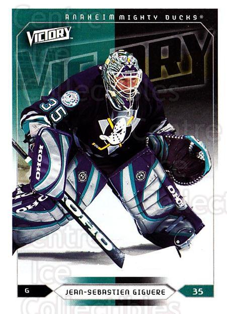 2005-06 UD Victory #1 Jean-Sebastien Giguere<br/>5 In Stock - $1.00 each - <a href=https://centericecollectibles.foxycart.com/cart?name=2005-06%20UD%20Victory%20%231%20Jean-Sebastien%20...&quantity_max=5&price=$1.00&code=234669 class=foxycart> Buy it now! </a>