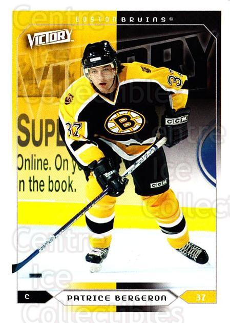 2005-06 UD Victory #14 Patrice Bergeron<br/>2 In Stock - $2.00 each - <a href=https://centericecollectibles.foxycart.com/cart?name=2005-06%20UD%20Victory%20%2314%20Patrice%20Bergero...&quantity_max=2&price=$2.00&code=234682 class=foxycart> Buy it now! </a>