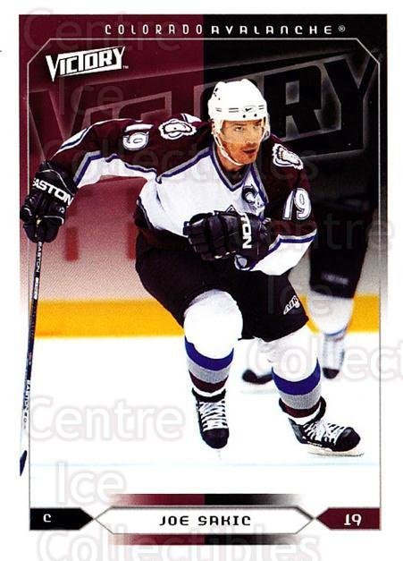 2005-06 UD Victory #45 Joe Sakic<br/>5 In Stock - $2.00 each - <a href=https://centericecollectibles.foxycart.com/cart?name=2005-06%20UD%20Victory%20%2345%20Joe%20Sakic...&quantity_max=5&price=$2.00&code=234713 class=foxycart> Buy it now! </a>