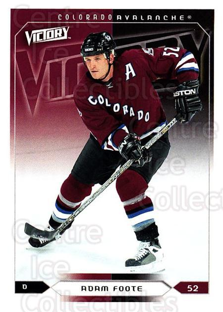 2005-06 UD Victory #52 Adam Foote<br/>4 In Stock - $1.00 each - <a href=https://centericecollectibles.foxycart.com/cart?name=2005-06%20UD%20Victory%20%2352%20Adam%20Foote...&quantity_max=4&price=$1.00&code=234720 class=foxycart> Buy it now! </a>