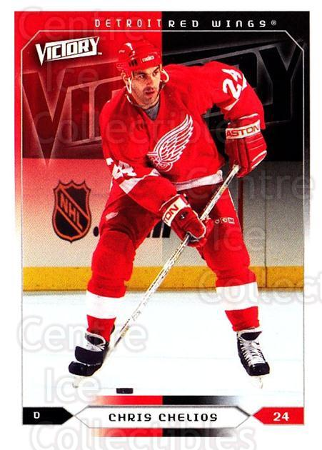 2005-06 UD Victory #69 Chris Chelios<br/>4 In Stock - $1.00 each - <a href=https://centericecollectibles.foxycart.com/cart?name=2005-06%20UD%20Victory%20%2369%20Chris%20Chelios...&quantity_max=4&price=$1.00&code=234737 class=foxycart> Buy it now! </a>