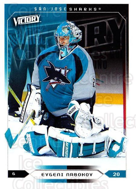 2005-06 UD Victory #163 Evgeni Nabokov<br/>4 In Stock - $1.00 each - <a href=https://centericecollectibles.foxycart.com/cart?name=2005-06%20UD%20Victory%20%23163%20Evgeni%20Nabokov...&quantity_max=4&price=$1.00&code=234831 class=foxycart> Buy it now! </a>