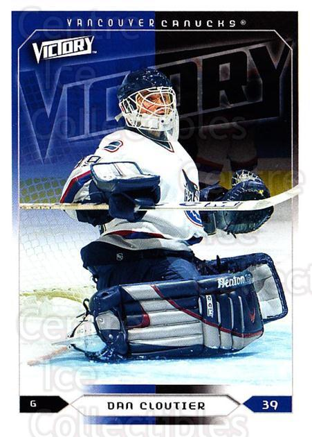 2005-06 UD Victory #191 Dan Cloutier<br/>4 In Stock - $1.00 each - <a href=https://centericecollectibles.foxycart.com/cart?name=2005-06%20UD%20Victory%20%23191%20Dan%20Cloutier...&quantity_max=4&price=$1.00&code=234859 class=foxycart> Buy it now! </a>