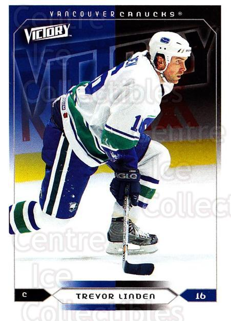 2005-06 UD Victory #195 Trevor Linden<br/>2 In Stock - $1.00 each - <a href=https://centericecollectibles.foxycart.com/cart?name=2005-06%20UD%20Victory%20%23195%20Trevor%20Linden...&quantity_max=2&price=$1.00&code=234863 class=foxycart> Buy it now! </a>