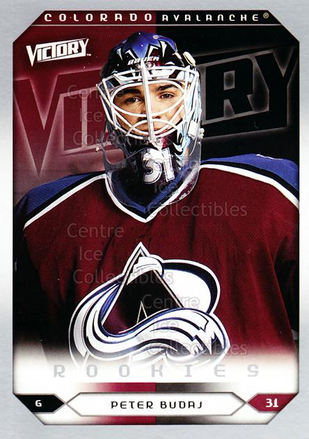 2005-06 UD Victory #251 Peter Budaj<br/>8 In Stock - $2.00 each - <a href=https://centericecollectibles.foxycart.com/cart?name=2005-06%20UD%20Victory%20%23251%20Peter%20Budaj...&quantity_max=8&price=$2.00&code=234919 class=foxycart> Buy it now! </a>