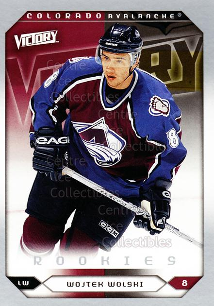 2005-06 UD Victory #252 Wojtek Wolski<br/>5 In Stock - $2.00 each - <a href=https://centericecollectibles.foxycart.com/cart?name=2005-06%20UD%20Victory%20%23252%20Wojtek%20Wolski...&quantity_max=5&price=$2.00&code=234920 class=foxycart> Buy it now! </a>