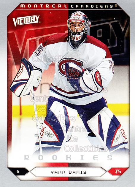 2005-06 UD Victory #260 Yann Danis<br/>6 In Stock - $2.00 each - <a href=https://centericecollectibles.foxycart.com/cart?name=2005-06%20UD%20Victory%20%23260%20Yann%20Danis...&quantity_max=6&price=$2.00&code=234928 class=foxycart> Buy it now! </a>