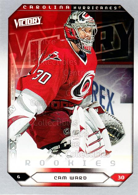 2005-06 UD Victory #274 Cam Ward<br/>9 In Stock - $3.00 each - <a href=https://centericecollectibles.foxycart.com/cart?name=2005-06%20UD%20Victory%20%23274%20Cam%20Ward...&price=$3.00&code=234942 class=foxycart> Buy it now! </a>