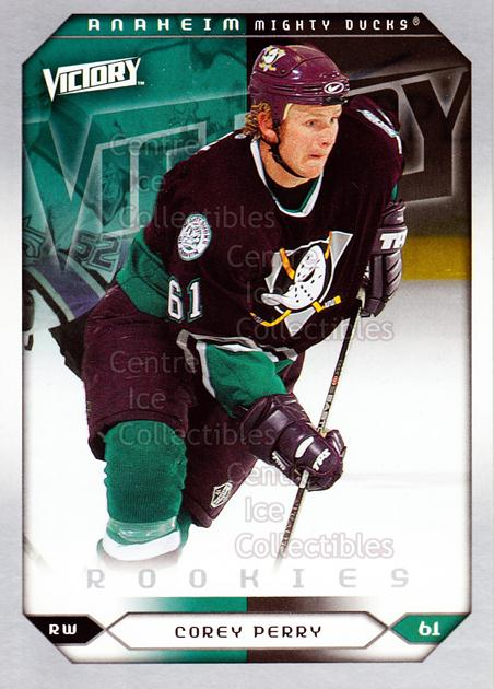 2005-06 UD Victory #281 Corey Perry<br/>6 In Stock - $3.00 each - <a href=https://centericecollectibles.foxycart.com/cart?name=2005-06%20UD%20Victory%20%23281%20Corey%20Perry...&quantity_max=6&price=$3.00&code=234949 class=foxycart> Buy it now! </a>