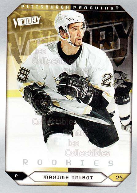 2005-06 UD Victory #286 Maxime Talbot<br/>8 In Stock - $2.00 each - <a href=https://centericecollectibles.foxycart.com/cart?name=2005-06%20UD%20Victory%20%23286%20Maxime%20Talbot...&quantity_max=8&price=$2.00&code=234954 class=foxycart> Buy it now! </a>