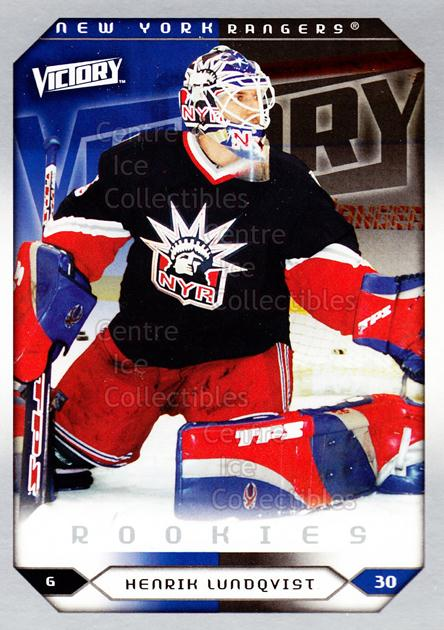 2005-06 UD Victory #288 Henrik Lundqvist<br/>1 In Stock - $5.00 each - <a href=https://centericecollectibles.foxycart.com/cart?name=2005-06%20UD%20Victory%20%23288%20Henrik%20Lundqvis...&quantity_max=1&price=$5.00&code=234956 class=foxycart> Buy it now! </a>