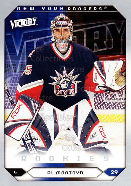 2005-06 UD Victory #289 Al Montoya<br/>2 In Stock - $2.00 each - <a href=https://centericecollectibles.foxycart.com/cart?name=2005-06%20UD%20Victory%20%23289%20Al%20Montoya...&quantity_max=2&price=$2.00&code=234957 class=foxycart> Buy it now! </a>