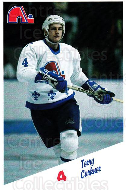1987-88 Quebec Nordiques Team Issue #4 Terry Carkner<br/>3 In Stock - $3.00 each - <a href=https://centericecollectibles.foxycart.com/cart?name=1987-88%20Quebec%20Nordiques%20Team%20Issue%20%234%20Terry%20Carkner...&quantity_max=3&price=$3.00&code=23502 class=foxycart> Buy it now! </a>